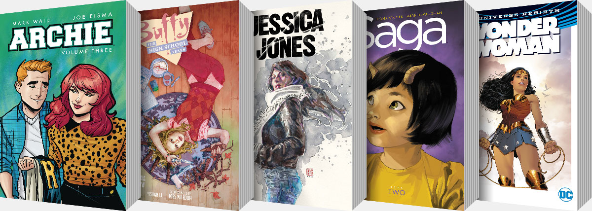 New Graphic Novels and Collected Editions arriving from April onwards...