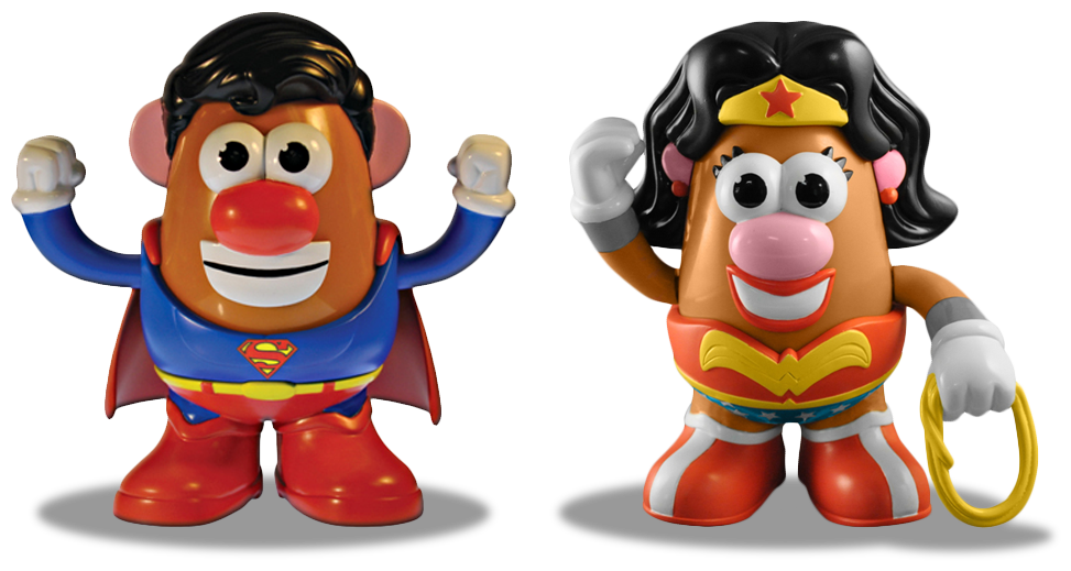 Mr. Potato-Head Superman and Wonder Woman