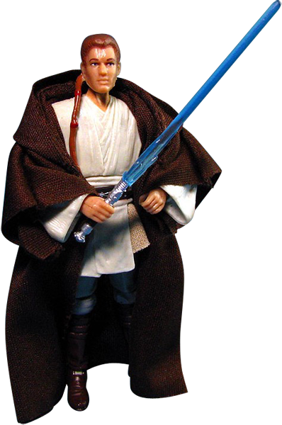 Vintage Phantom Menace Obi Wan action figure