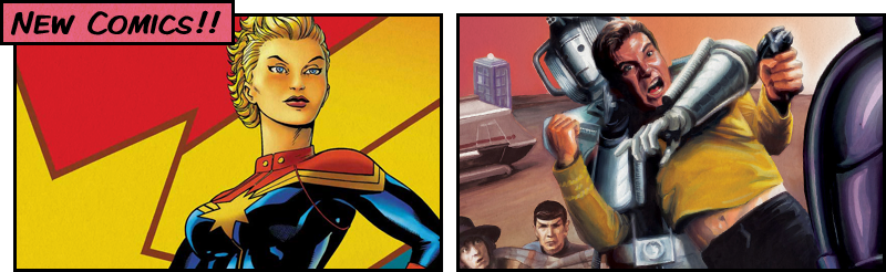 New Comics 18-07-12: Captain Marvel / Star Trek - Doctor Who