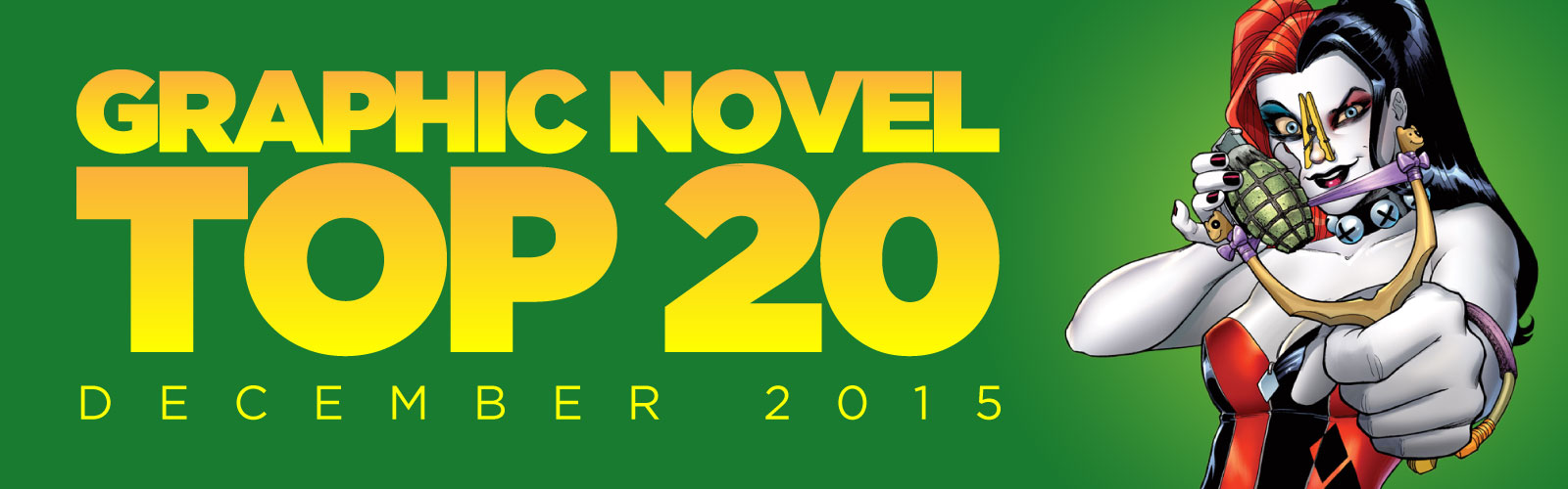 ACE Comics' Top 20 Graphic Novels Chart, December 2015