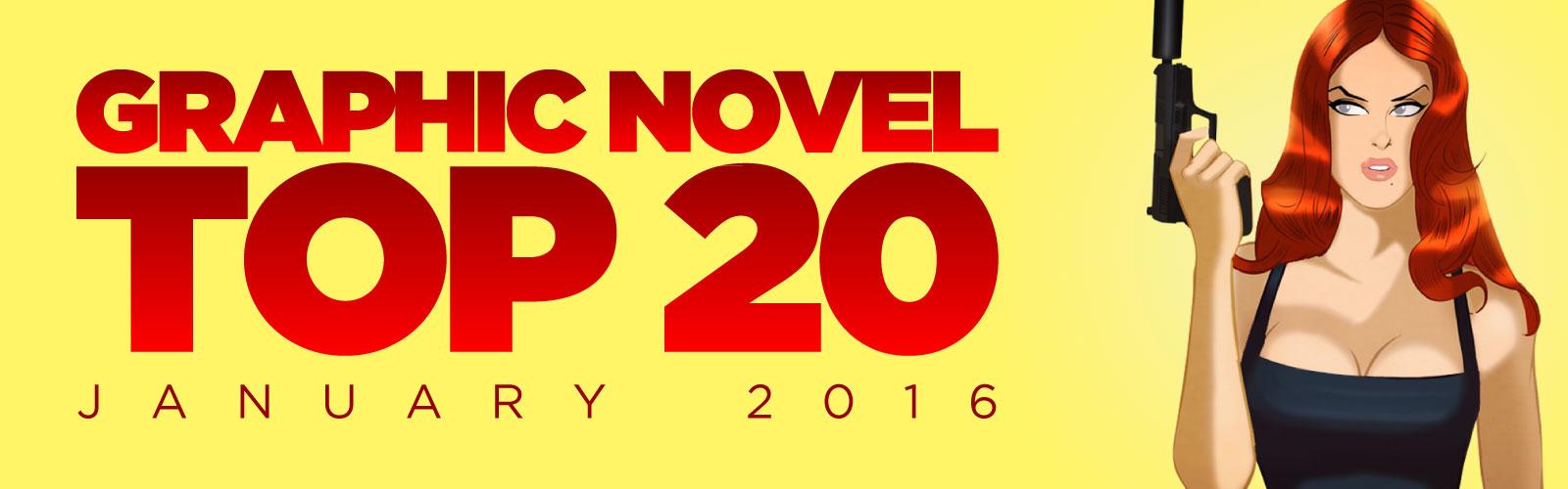 ACE Comics' Top 20 Graphic Novels Chart, January 2016