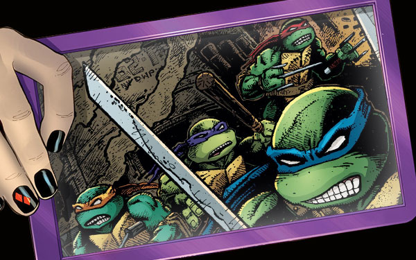 Digital screen: Teenage Mutant Ninja Turtles