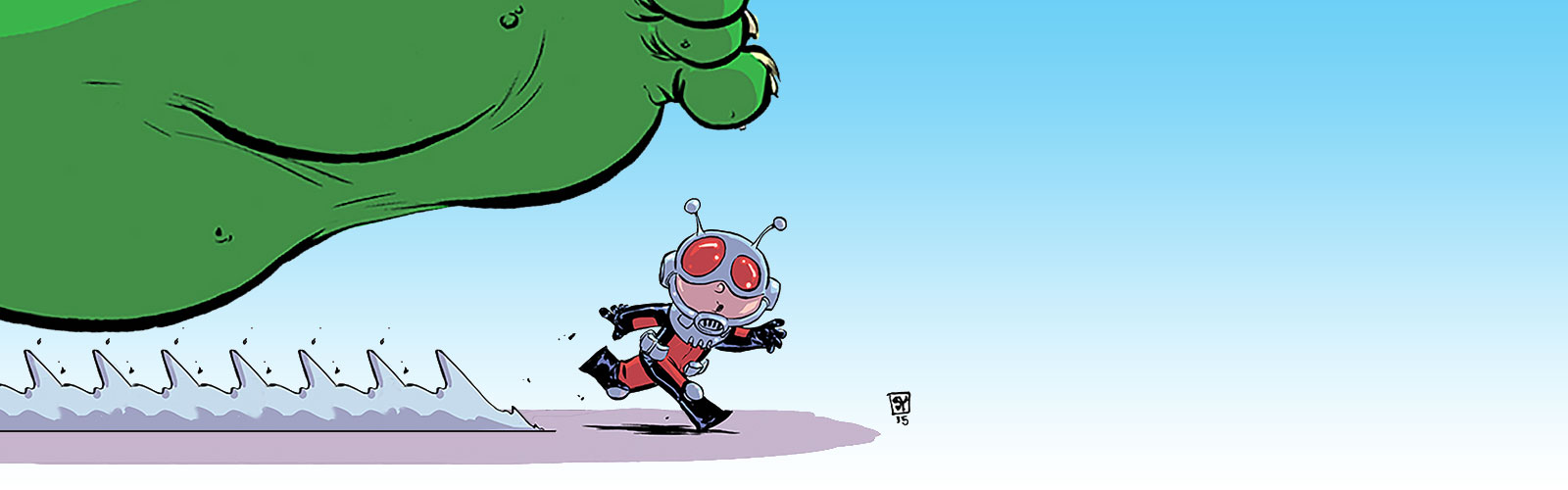 Ant-Man and the Hulk by Skottie Young